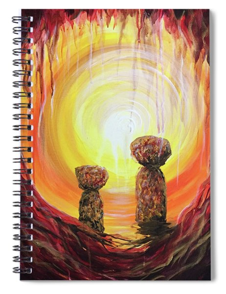 Fire And Earth Latte Stones Spiral Notebook