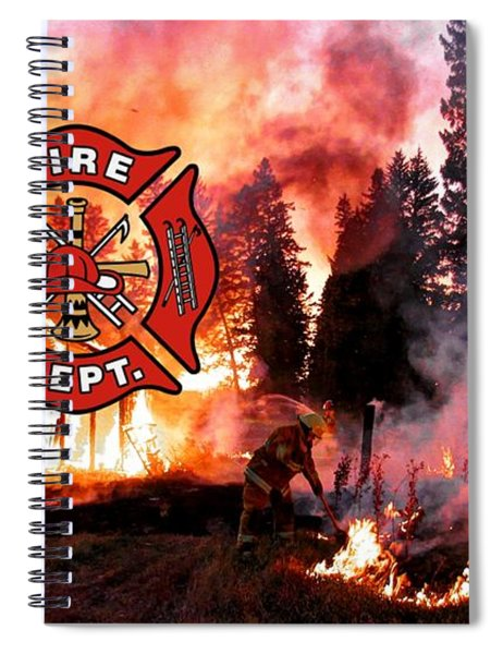 Fire Fighting 3 Spiral Notebook