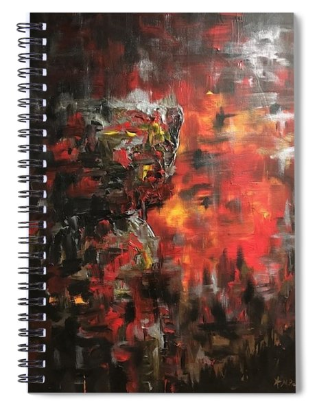 Fire Latte Stone Rising Spiral Notebook