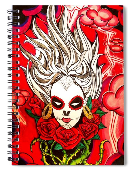 Spiral Notebook featuring the painting Fire by Nathen Warred