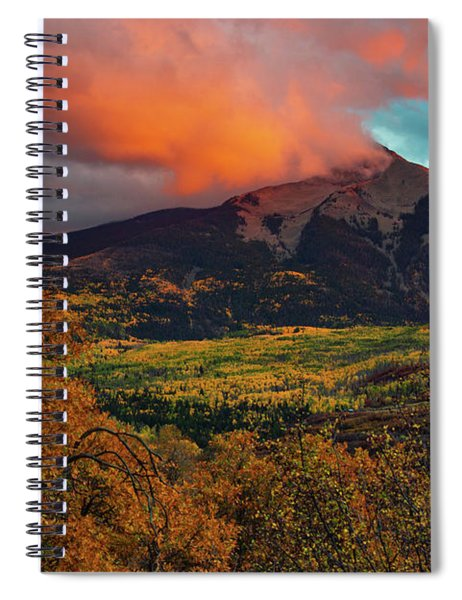 Spiral Notebook featuring the photograph Fire Sky by John De Bord