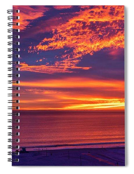 Cosmic Fire Warrior Spiral Notebook