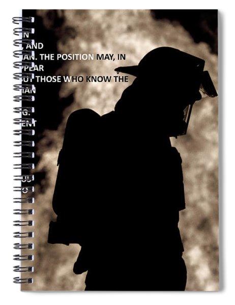 Firefighter Poem Spiral Notebook