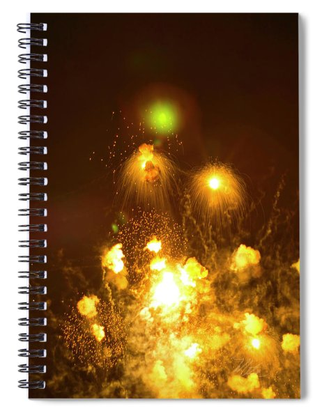 Fireworks All Hell Breaks Loose Spiral Notebook