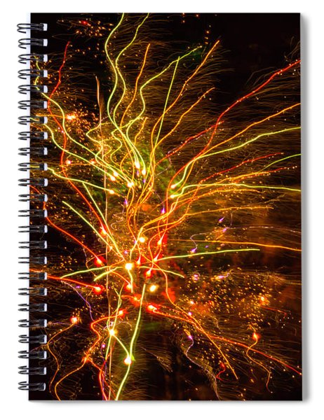 Fireworks Bad Space Day Spiral Notebook