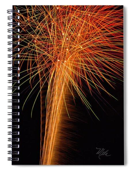 Fireworks Cone Spiral Notebook