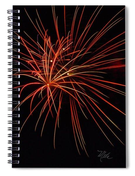 Fireworks Explosion Spiral Notebook