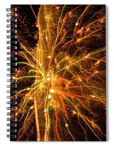 Fireworks Neuron Explosion Spiral Notebook