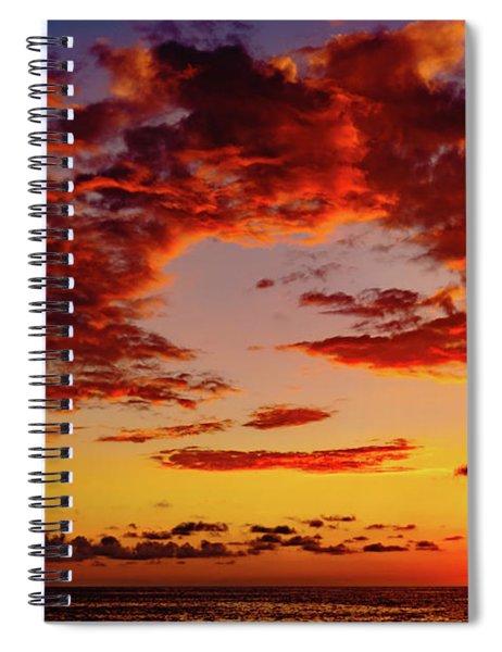 First November Sunset Spiral Notebook