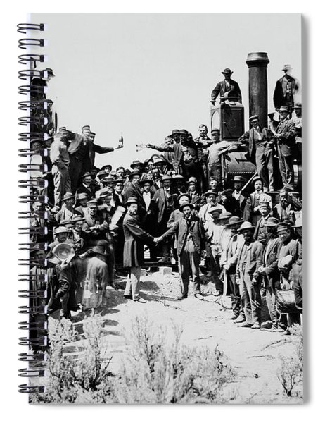 First Opening Of The Transcontinental Railroad - 1869 Spiral Notebook