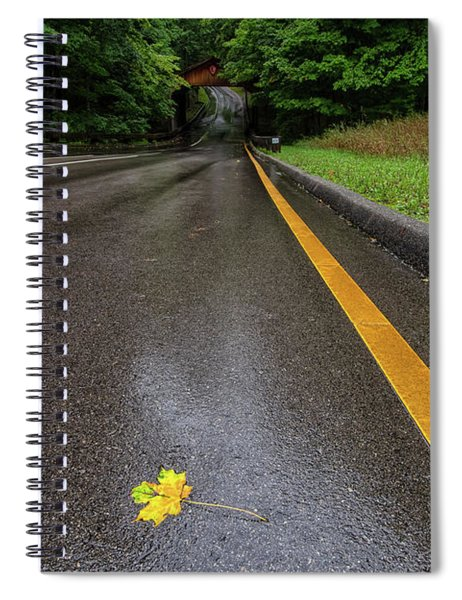 Spiral Notebook featuring the photograph First Sign Of Autumn by Heather Kenward