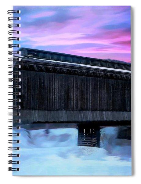 Fisher Raiilroad Covered Bridge Wolcott Vermont. Spiral Notebook