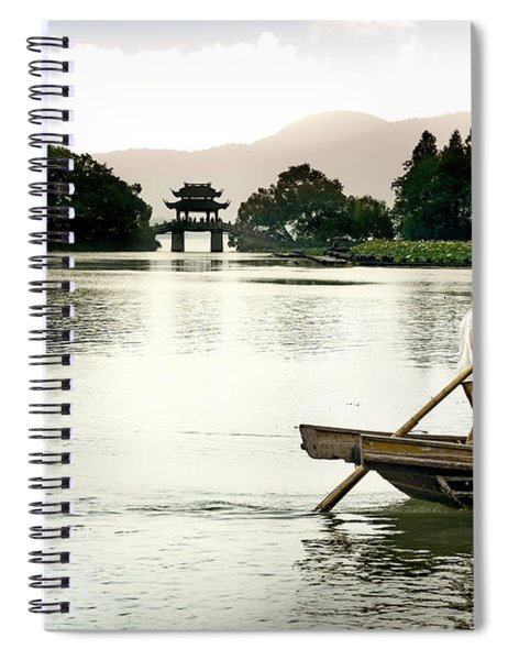 Fisherman At Wuxi Spiral Notebook