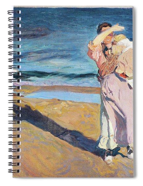 Fisherwomen With Her Son - Digital Remastered Edition Spiral Notebook