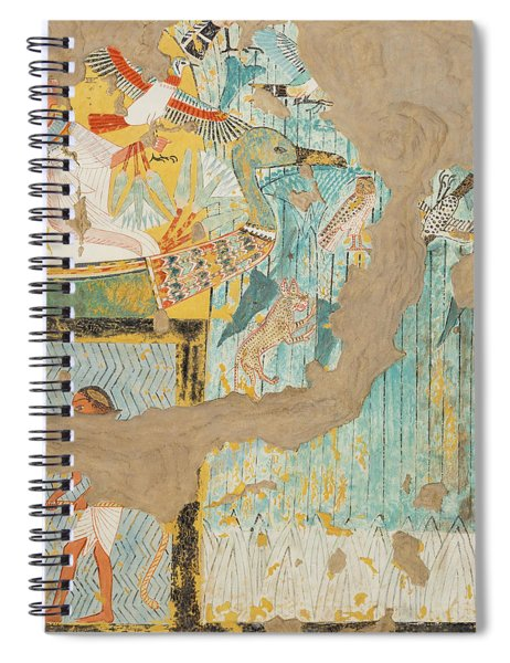 Fishing And Fowling, Tomb Of Ipuy Spiral Notebook