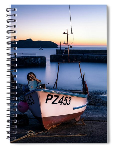 Fishing Boat In Mullion Cove Spiral Notebook