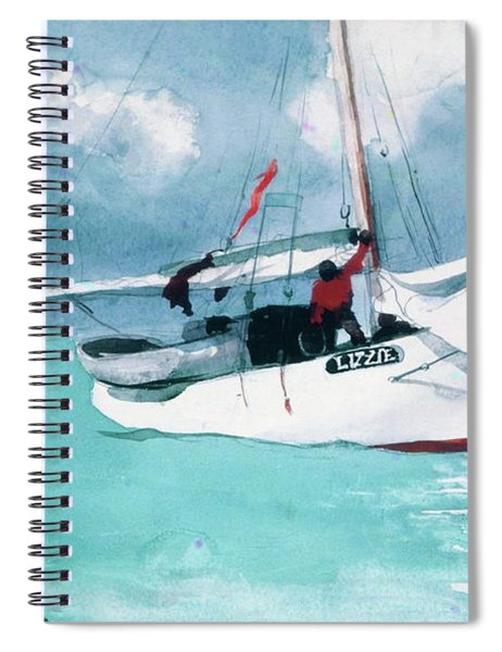 Fishing Boats, Key West - Digital Remastered Edition Spiral Notebook