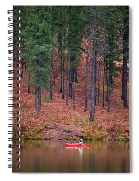 Fishing Fenton Lake Spiral Notebook