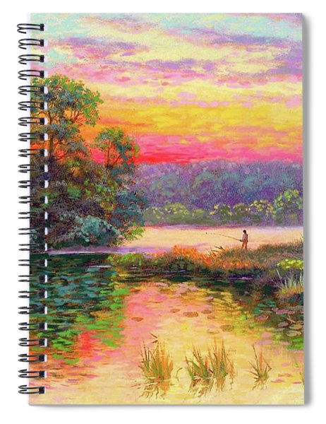 Fishing In Evening Glow Spiral Notebook