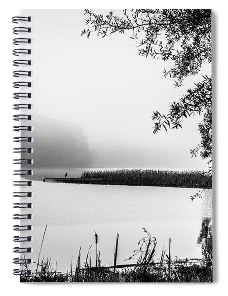 Fishing In The Fog II Spiral Notebook