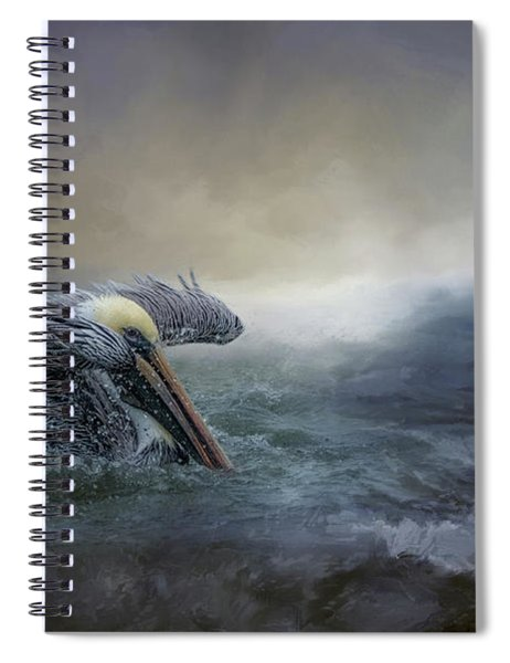 Fishing In The Storm Spiral Notebook