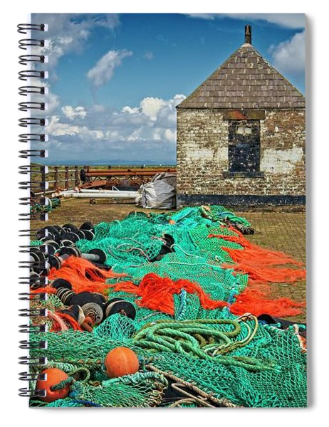 Fishing Nets At Maryport Spiral Notebook