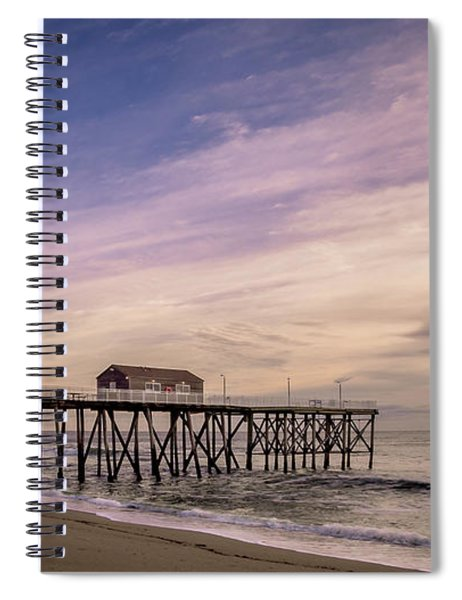 Fishing Pier Sunrise Spiral Notebook