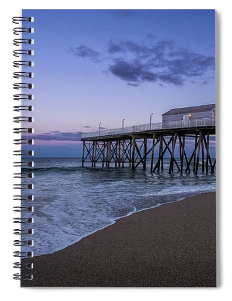Fishing Pier Sunset Spiral Notebook