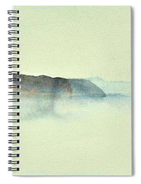 Fiske I Morgondis Hunnebo Vaestkusten   Fishing In Morning Haze Hunnebo Swedish Archipelago 76x73cm  Spiral Notebook