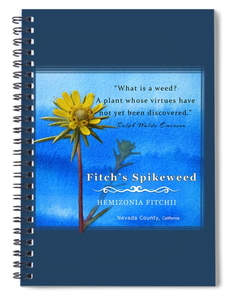 Fitch's Spikeweed Spiral Notebook