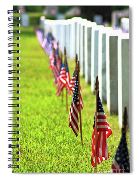 Spiral Notebook featuring the photograph Flags In by Patti Whitten