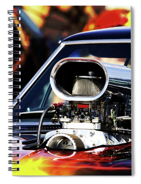 Flames To Go Spiral Notebook