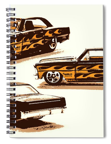 Flamin Chevrolet 66 Nova Spiral Notebook
