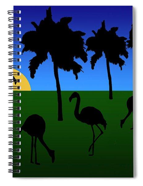 Flamingo Sunrise Spiral Notebook