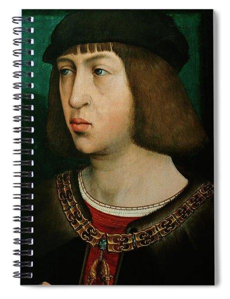 Flandes, Juan De Philipp Der Schoene -1478-1506-, King Of Castile. Oil On Oakwood, 30 X 19 Cm. Spiral Notebook