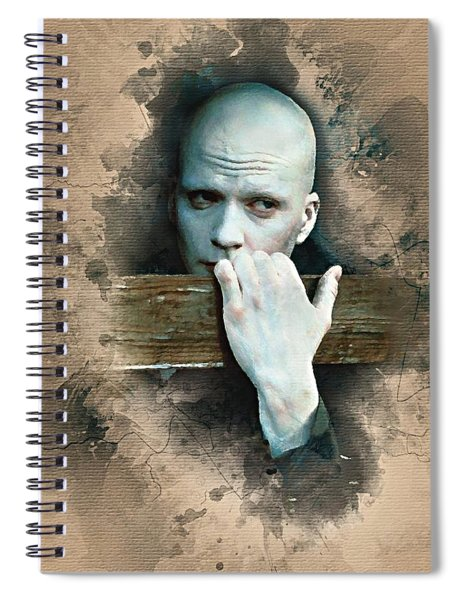 Flanery As Powder Watercolor  Spiral Notebook