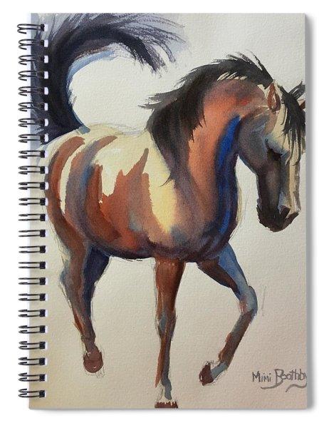 Flashing Bay Horse Spiral Notebook