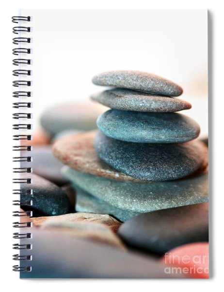 Spiral Notebook featuring the photograph Flat Stones by Patti Whitten