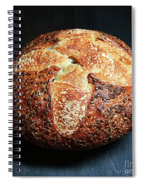 Flax Seed Sourdough 2 Spiral Notebook