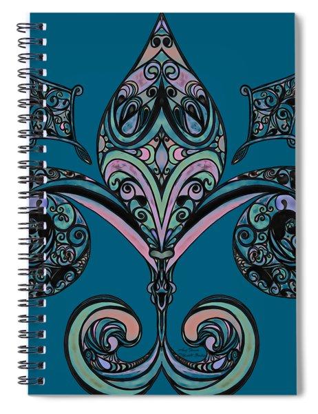 Fleur-de-lis Spiral Notebook
