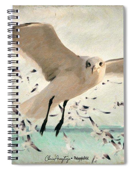 Flight Of The Gulls Spiral Notebook