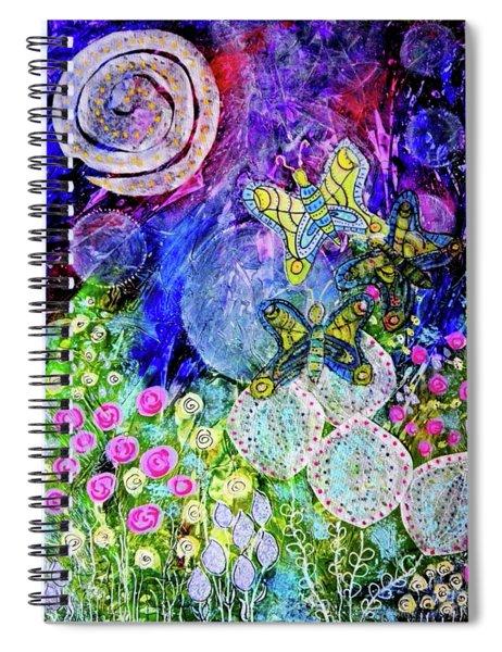 Flight Of The Lunar Moths Spiral Notebook