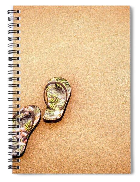 Flip-flops On The Sand. Spiral Notebook