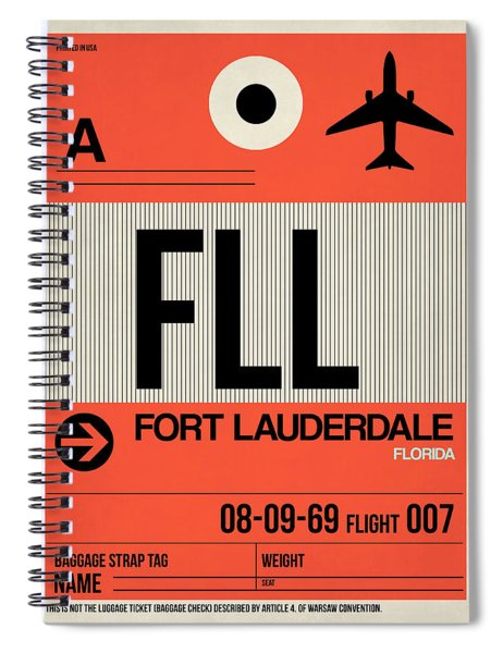 Fll Fort Lauderdale Luggage Tag I Spiral Notebook