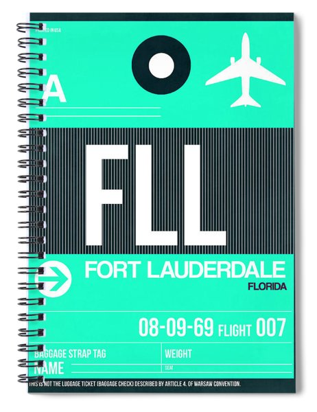 Fll Fort Lauderdale Luggage Tag II Spiral Notebook