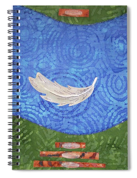 Floating Feather Spiral Notebook