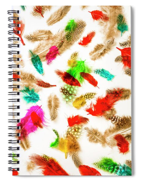 Floating In Colourful Abstract Spiral Notebook