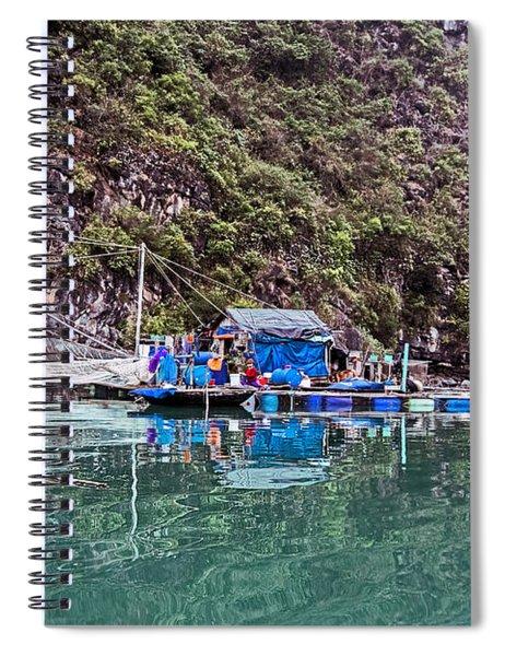 Floating Market - Halong Bay, Vietnam Spiral Notebook