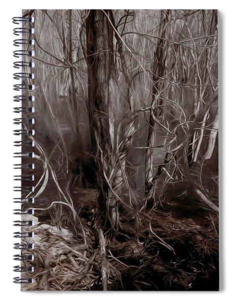 Floodplain Forest Vines In Sepia Spiral Notebook