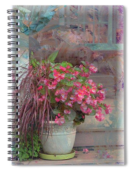 Floral Art Spiral Notebook